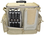 Tactical Rolling Range Bag Holds 10 handguns